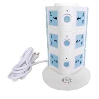 D-VER ปลั๊กคอนโด Plug Condo USB 3 ชั้น (สีฟ้า)