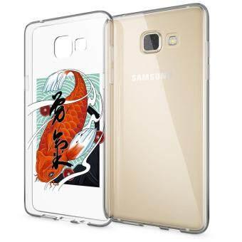 HugCase TPU เคส Samsung Galaxy A7 2016เคสโทรศัพท์พิมพ์ลาย Koi เนื้อบาง 0.3 mm