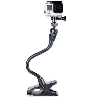 Smatree Gopro Gooseneck ขาตั้งกล้อง Gopro Xiaomi and All camera ชนิดหนีบ - Black