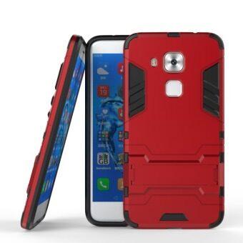 โทรศัพท์ลูกผสม BYT TPU+PC Neo เคสสำหรับ Huawei G9 บวก/บวก Maimang โนวา/5 (สีแดง)