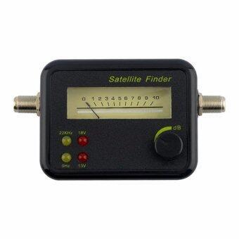 Mastersat เครื่องวัดสัญญาณดาวเทียม แบบเข็ม เช็ค 0/22KHz , 13V/18V ได้ Satellite Finder รุ่น SF001 (Black)