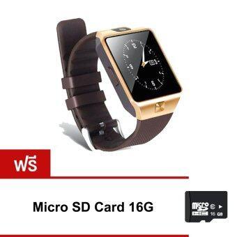 Smart Watch Z นาฬิกาโทรศัพท์ Smart Watch รุ่น DZ09 Phone Watch (สีทอง)ฟรี micro SD Card 16G