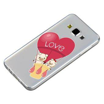 HugCase TPU เคส Samsung Galaxy A7 2015 เคสโทรศัพท์พิมพ์ลาย Love เนื้อบาง 0.3 mm