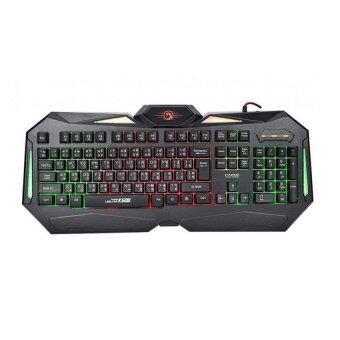 Marvo K608 Gaming LED Keyboard คีย์บอร์ดเกมมิ่งมีไฟ (สีดำ)