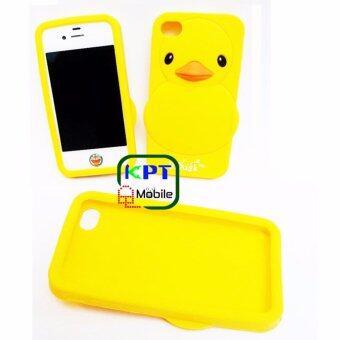 KPT เคสซิลิโคนเป็ดเหลืองสำหรับ IPhone 4/4s