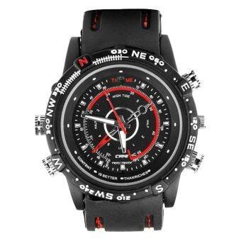 Center Spy Watch Cameras นาฬิกาข้อมือถ่ายวีดีโอ - Black