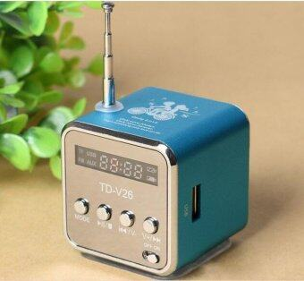Portable Micro SD TF USB Mini Stereo Speaker Music Player FM Radio for Laptop PC MP3 4 S3 - intl
