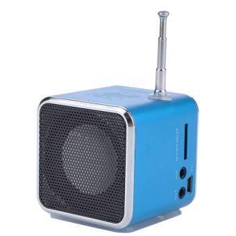 Portable Micro SD TF USB Mini Stereo Speaker Music Player FM Radio for Laptop PC MP3 4 S3 - intl