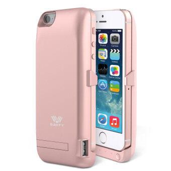 SAVFY เคสแบตสำรอง แบตเตอรี่เพาเวอร์แพ็ค iPhone 5/5S/SE-4200mAh (สีชมพู)