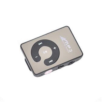 คลิปมินิ Mp3 เล่น/กีฬากระจก Mp3 SD/ปุ่มการ์ด ถ้าเขาซี MP3 ดนตรีสื่อ+หูโทรศัพท์+สายยูเอสบี (สีดำ)