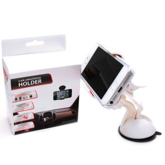 Harga Universal Car Windshield Mount Holder For iPhone 5S 5C 5G 4S iPod GPS Samsung BK (white)
