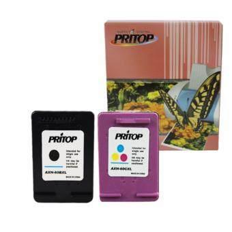 Axis / HP ink Cartridge 60BK-XL*1/60CO-XL*1 ใช้กับปริ้นเตอร์ HP DeskJet D2500, D2530, F4200/F4280/F4288 Pritop