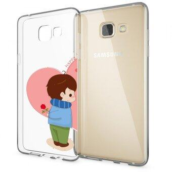 AFTERSHOCK TPU Case Samsung Galaxy A9 (เคสใสพิมพ์ลาย Lovely Boy) / Thin 0.33 mm(Multicolor)
