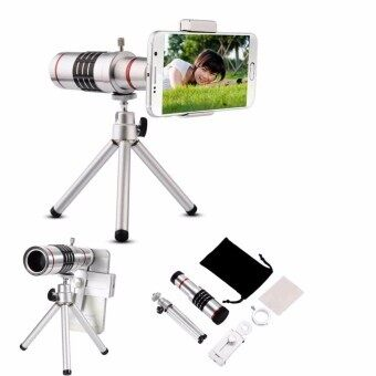 Harga Universal 18X Zoom Phone Telescope Telephoto Camera Lens + Tripod IPhone Android - intl