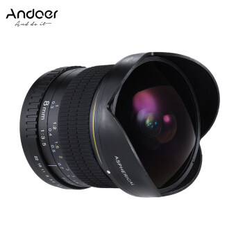 Ultra Wide HD Fisheye Aspherical Circular Lens for Canon EOS DSLR Cameras--Full Frame Compatible - intl