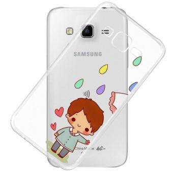 AFTERSHOCK TPU Case Samsung Galaxy J7 2015 (เคสใสพิมพ์ลาย umbrella 2) / Thin 0.33 mm