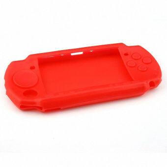 ซิลิโคน Sony PSP Silicone Skin Protective Soft Case Cover for Sony PSP 2000 3000 - Red