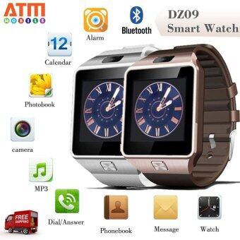 ATM Smart Watch Phone รุ่น DZ09 กล้องนาฬิกาบูลทูธ ใส่ซิมได้ Bluetooth Smart Watch SIM Card Camera แพ็คคู่ 2 เรือน (สีขาว/ทอง)