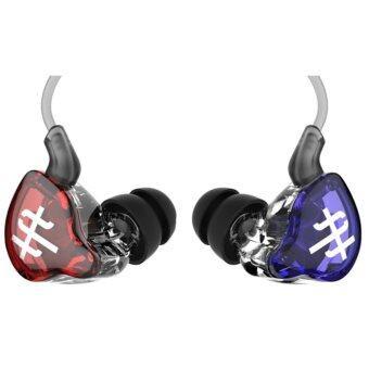 TFZ Series 1S หูฟัง IEM รุ่นล่าสุด บอดี้ metailic สายฉนวนใสแบบใหม่ (สีแดง+น้ำเงินใส009)