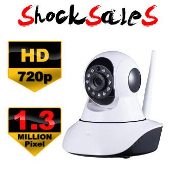 IP Camera CCTV กล้องวงจรปิด/กล้องไอพี 1.3 ล้านพิกเซล HD 720P IR Cut Wi-Fi และ ไมโครโฟน ในตัว (สีขาว-ดำ) (Full HD 1080p)