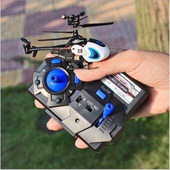 Drone โดรน เฮลิคอปเตอร์ มินิ ขาวฟ้า hw 7001 helicopter white/blue