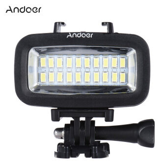 ... High Power 700LM Diving Video Fill-in Light LED Lighting Lamp Waterproof 40M 1900mAh with Diffuser for GoPro SJCAM Xiaomi Yi Sports Action Camera - Intl