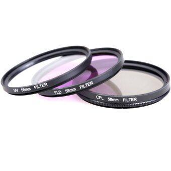 58MM UV CPL FLD Filter Kit for Canon EOS 500D 550D /Rebel T3i T2i T1i SLR - Intl ราคาถูกที่สุด ส่งฟรีทั่วประเทศ