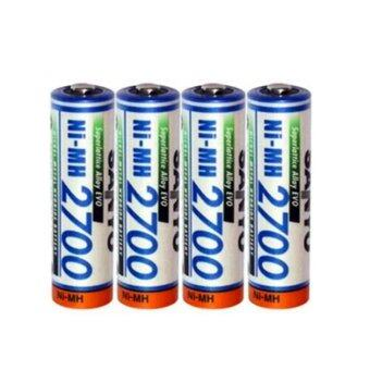SANYO Rechargeable Battery AA รุ่น HR-4U-2B-2700 4 ก้อน/แพ็ค (White )