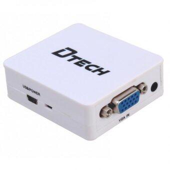 DTECH ตัวแปลงระบบ VGA to HDMI Converter 1.4,PC to TV