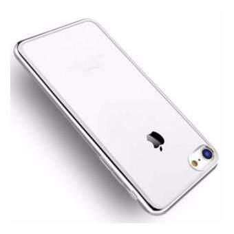 Case เคส ไอโฟน 7 Iphone7 เคสนิ่ม TPU ขอบเงิน เคสใส หรูหรา สีเงิน วัสดุ คุณภาพดี พร้อมส่ง