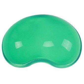 ข้อมือหนูหญ้าคาเบาะรองรับซิลิโคนป้องกันความเหนื่อยล้ามือหมอนสีเขียว