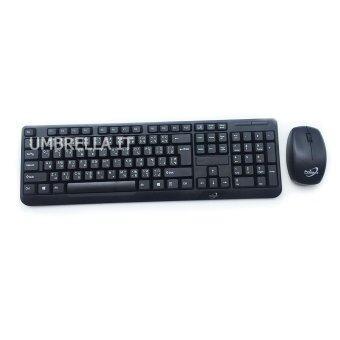Marvo Primaxx KMC-8163 Keyboard+Mouse Wireless ชุดคีย์บอร์ดเมาส์ ไร้สาย (สีดำ)