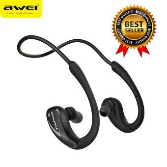 Awei หูฟังบลูทูธ สำหรับออกกำลังกาย Super BASS กันเหงื่อ กันน้ำ Bluetooth Sports Headphones รุ่น A880BL(สีดำ)