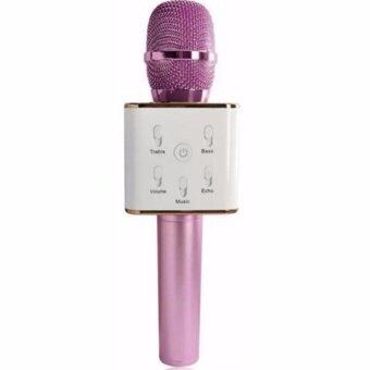 Lilry shop TUXUN Q7 ไมโครโฟนไร้สายแบบมือถือลำโพงบลูทูธ Karaoke Bluetooth Microphone สำหรับ iOS / Android