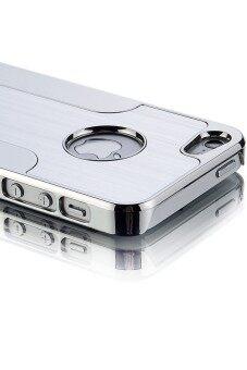 สินค้ายอดนิยม Moonar คงทนกันกระแทกดินผสมแอลกอฮอล์ผิวโลหะฝาเคส Protecter สำหรับ iPhone 5/5S (เงิน) ขายดี