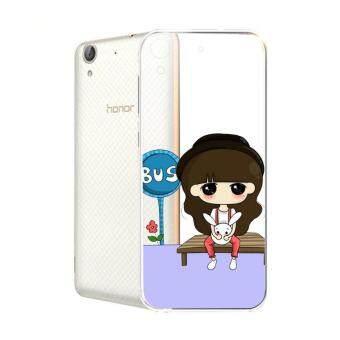 Hug Case TPU เคส Huawei Y6 II เคสโทรศัพท์พิมพ์ลาย Bus เนื้อบาง 0.3 mm