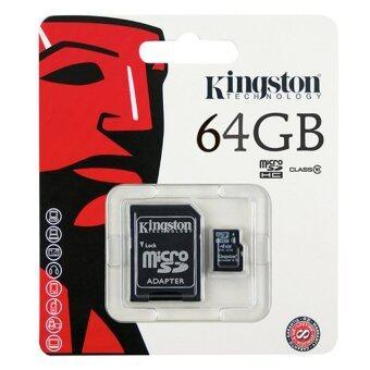 ขายดี Kingston Memory Card Micro SD SDHC 64 GB Class 10 คิงส์ตัน เมมโมรี่การ์ด 64 GB สินค้ายอดนิยม