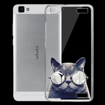 AFTERSHOCK TPU เคส vivo Y37 เคสโทรศัพท์พิมพ์ลาย Black Cat เนื้อบาง 0.33 mm