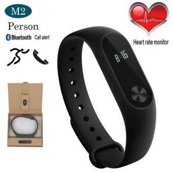 Person วัดอัตราการเต้นหัวใจ ฟิตเนส นาฬิกาสุขภาพอัจฉริยะ ติดตามกิจกรรม DayDayBand Smart Wristband รุ่น M2--Black