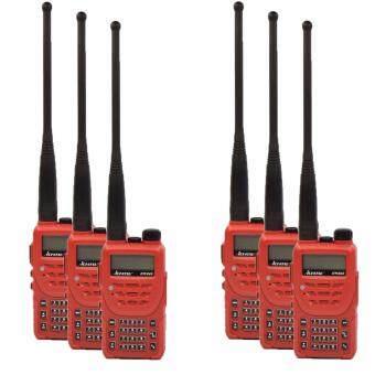 ICHITSU วิทยุสื่อสาร RW245 อุปกรณ์ครบชุด ป้องกันน้ำเข้า IP66 5 watts ถูกกฏหมาย 6 ตัว