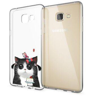 HugCase TPU เคส Samsung Galaxy A7 2016เคสโทรศัพท์พิมพ์ลาย Bird & Cat เนื้อบาง 0.3 mm