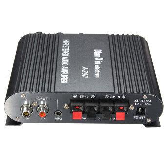 2.1CH ซุปเปอร์เบส 12โวลต์มินิไฮไฟสเตอริโอเครื่องขยายสัญญาณกระตุ้น MP3 สำหรับรถบ้าน