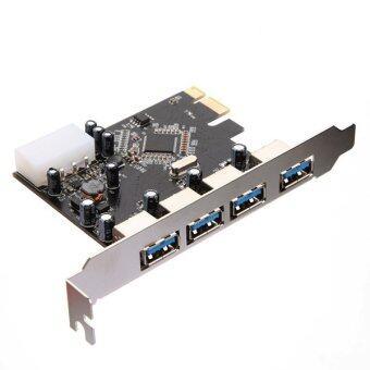 ความเร็วสูง USB 3.0 2.0 ดุม PCI-E PCIE 4 การ์ดอะแดปเตอร์พอร์ตขยาย...