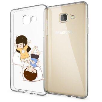 HugCase TPU เคส Samsung Galaxy A9เคสโทรศัพท์พิมพ์ลาย Sleeping เนื้อบาง 0.3 mm