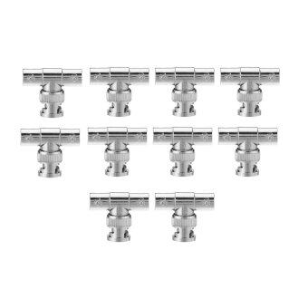 10pcs BNC Tee Adapter Jack Plug Jack Coaxial Splitter Lot Pack for Surveillance Equipment