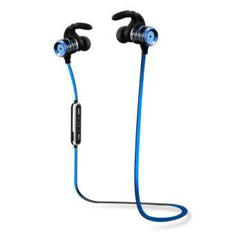 NEW Sports หูฟังแบบสอดหู Sweatproof/Waterproof Wireless Bluetooth In-Ear Headphones Double Color Movement Version For IOS And Android(Blue) - intl