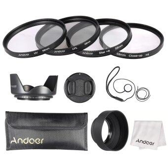 Andoer 58mm Lens Filter Kit (UV + CPL + Star+8 + Close-up+4 ) with Lens Cap + Lens Cap Holder + Tulip & Rubber Lens Hoods + Cleaning Cloth Outdoorfree - ...