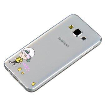 HugCase TPU เคส Samsung Galaxy A8เคสโทรศัพท์พิมพ์ลาย Go Go เนื้อบาง 0.3 mm