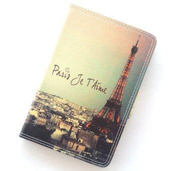 Little Fire เคสไอแพดมินิ 1/2/3 ปารีส หอไอเฟล Vintage Je-T'Aime Paris Eiffel Tower Leather Case For Apple iPad Mini 1/2/3