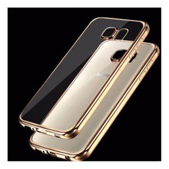 Case Samsung S6 edge เคสใสขอบทอง เคสนิ่ม เคสซัมซุง Soft Case Samsung S6 edge Gold TPU ใส ขอบ สีทอง